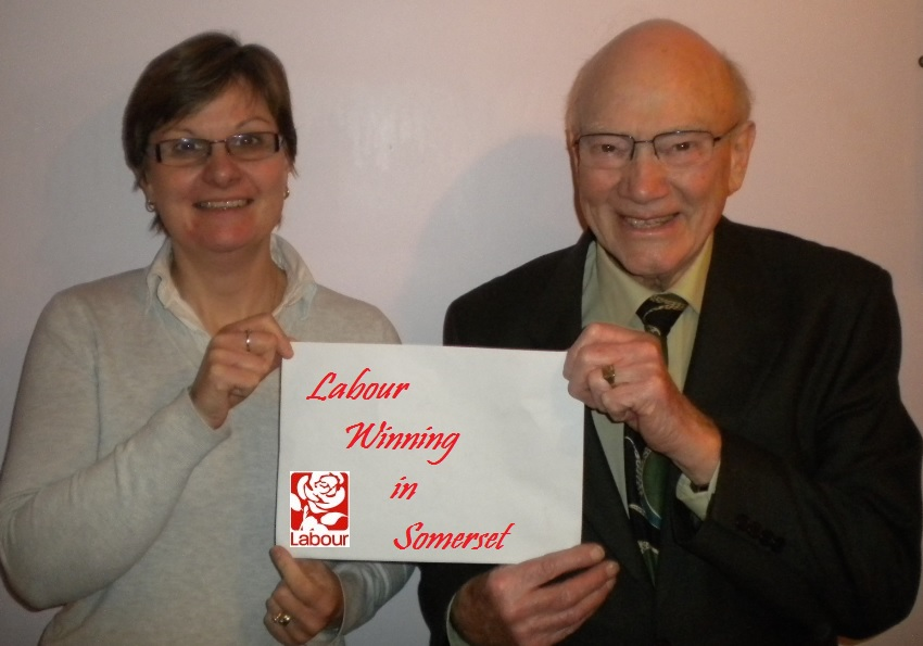Labour victors in the Shepton West By-Election Deborah Towner and John Gilham