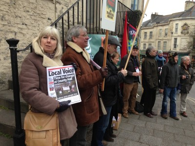 Somerton and Frome Labour candidates join the picket outside Lib Dem MPs surgery