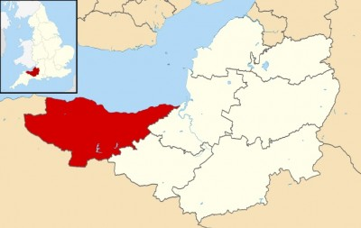 West somerset map